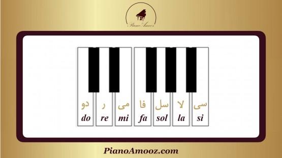 نتها بر روی پیانو